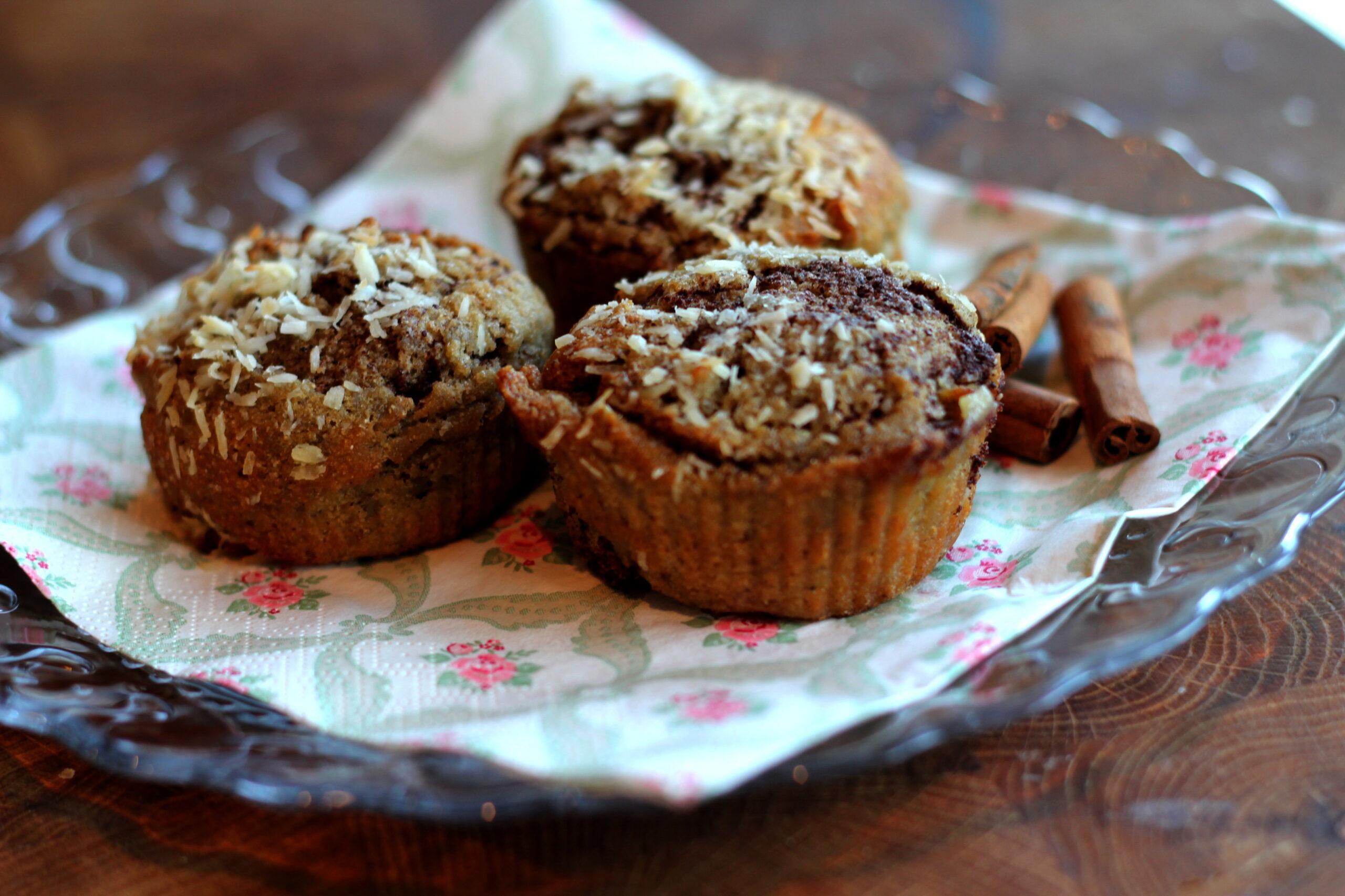 Nötfria muffins med kanel och kardemumma