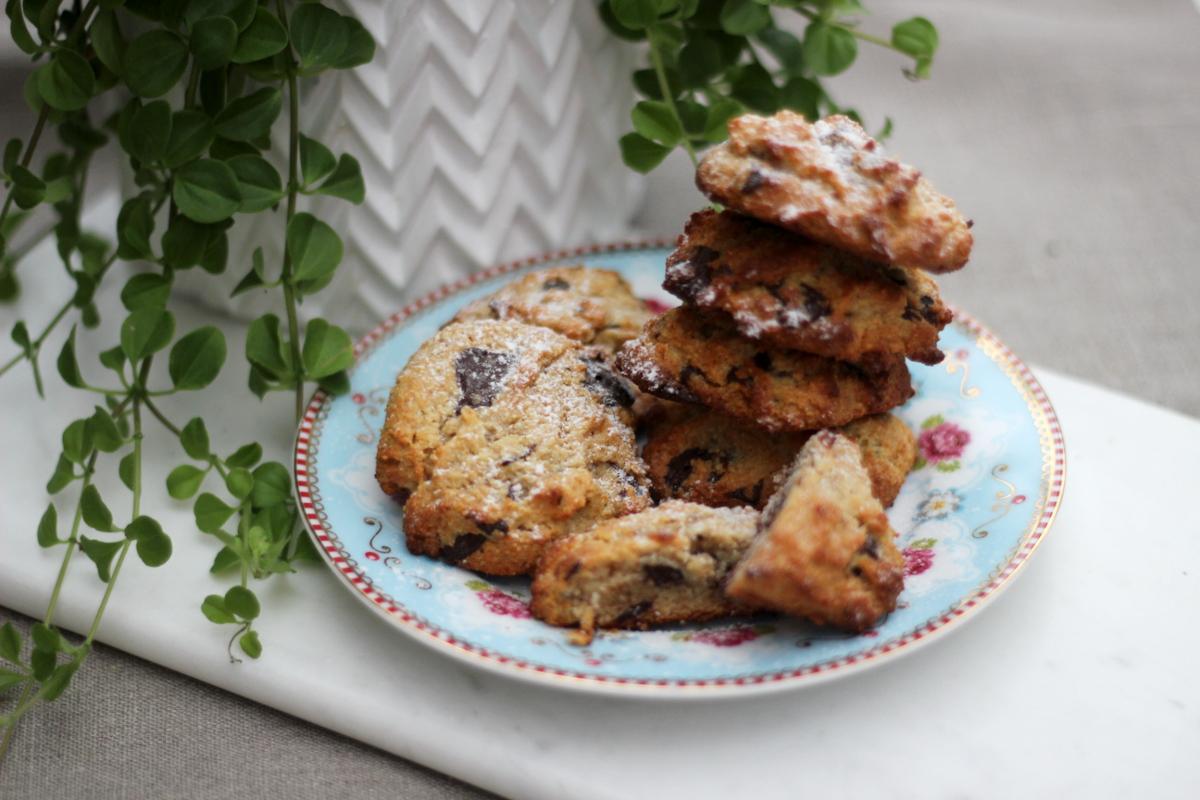 Chocolate chip cookies utan gluten och raffinerat socker