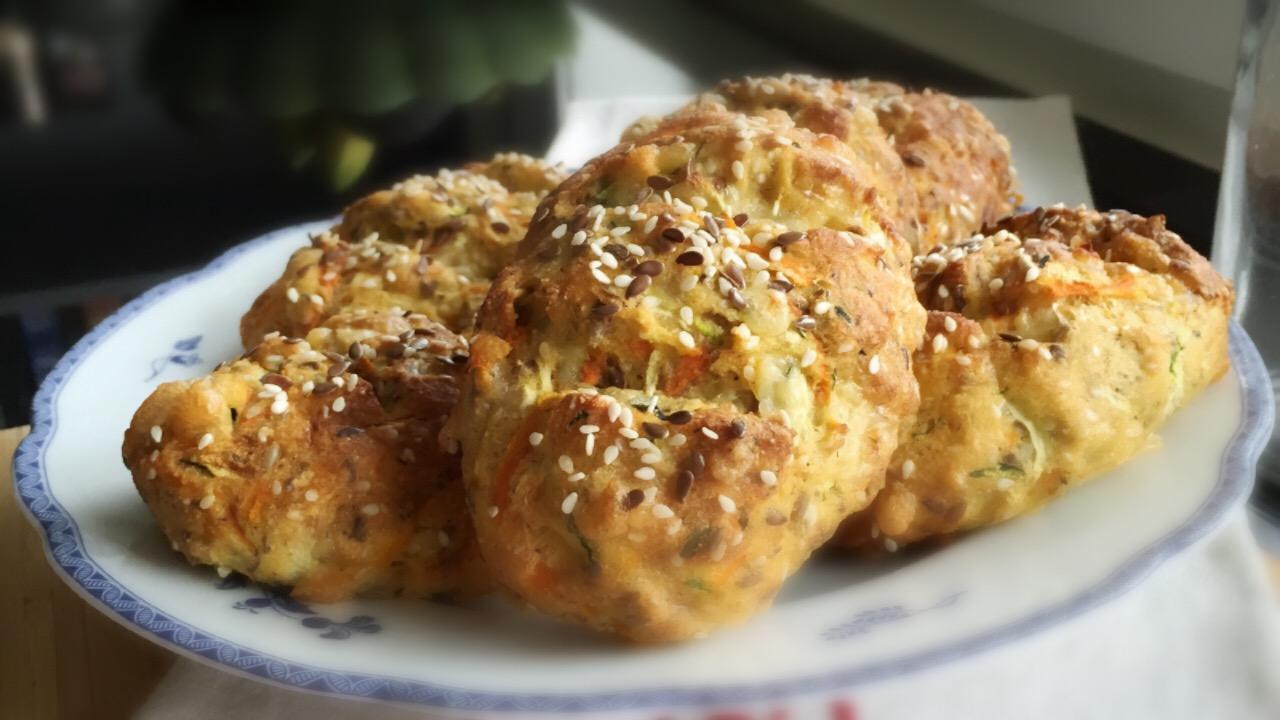 glutenfritt bröd med zucchini