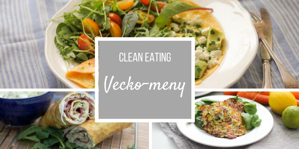 Veckomeny nr 1 – tema middagar för lågkolhydratkost/lchf
