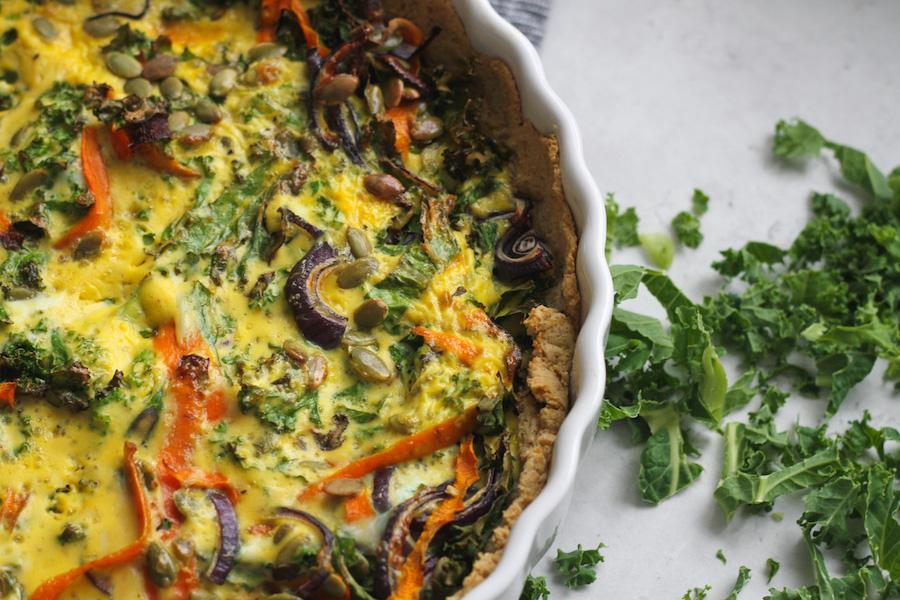vegetarisk grönkålspaj