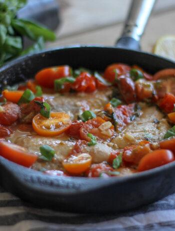 torsk med tomat, basilika och vitlök-2