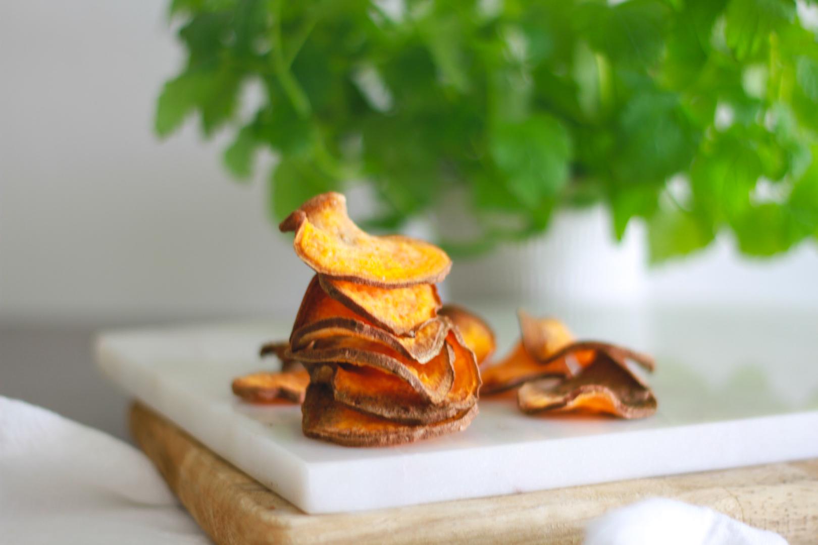 sötpotatis chips