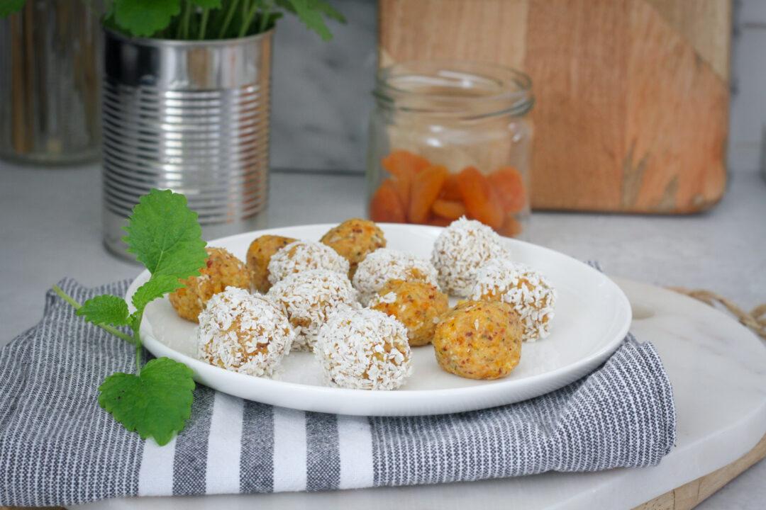 aprikos rawfoodboll vegansk