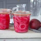 picklad rödlök utan socker