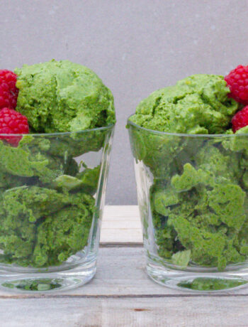 vegansk glass spenat