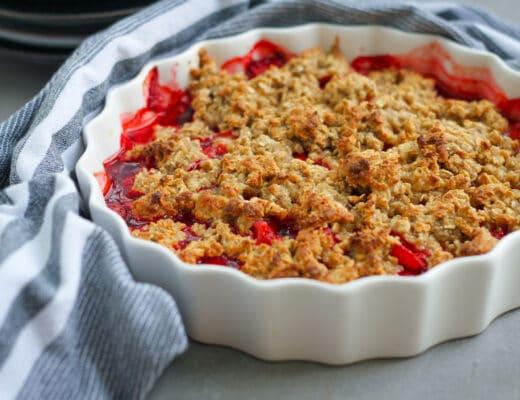 glutenfri smulpaj jordgubbar
