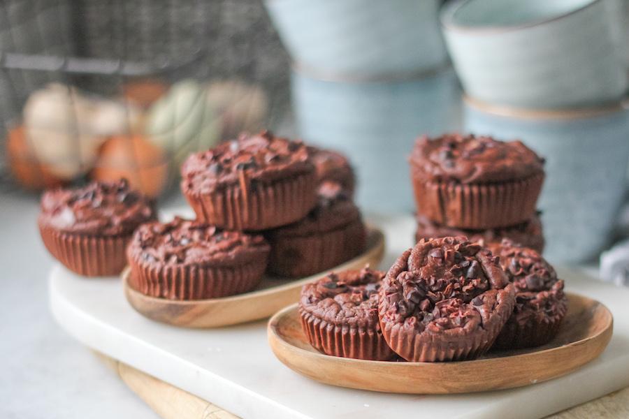 glutenfria chokladmuffins utan socker