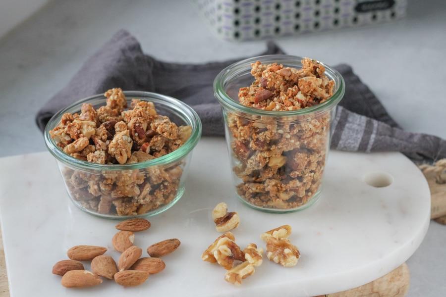 Crunchy granola med ingefära och kardemumma